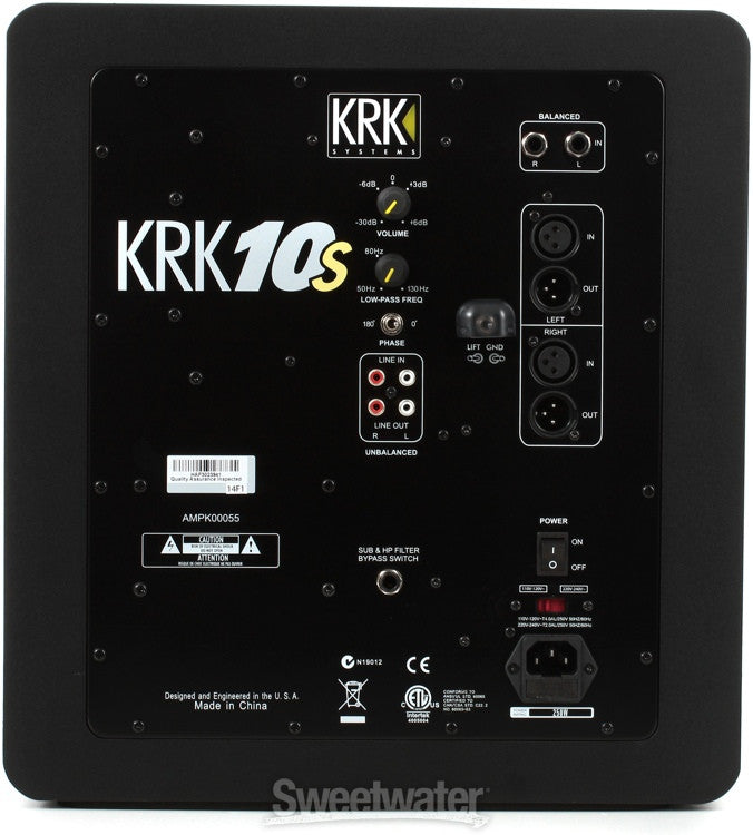 KRK 10s Powered Subwoofer - Sonido Live