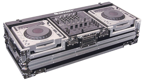 Odyssey FZ12CDJW Flight Zone DJ Coffin w/ Wheels for 12-inch Mixer & Top Large Format CD Players - Sonido Live