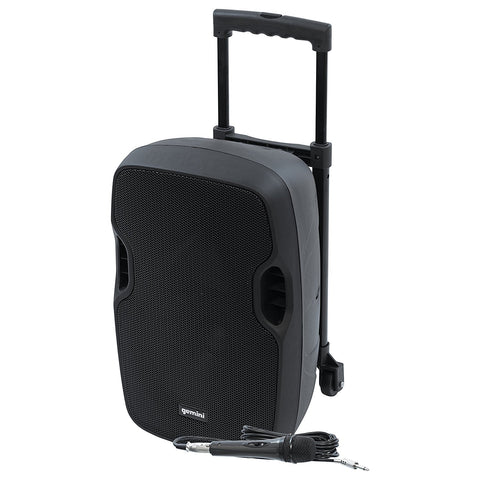 Gemini AS-10TOGO Bluetooth 10-inch Battery Powered Portable PA Loudspeaker