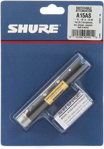 Shure A15AS Switchable Attenuator