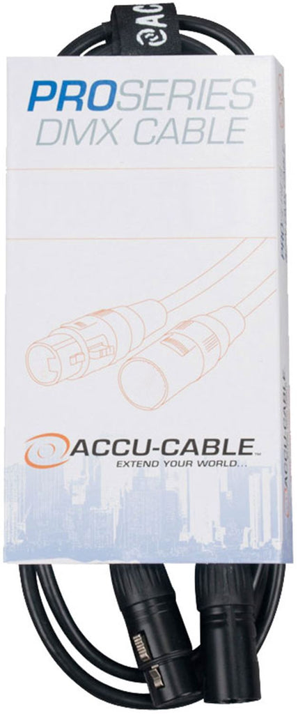 Accu-Cable Pro 3-Pin XLR F to XLR M DMX Cable 50Ft