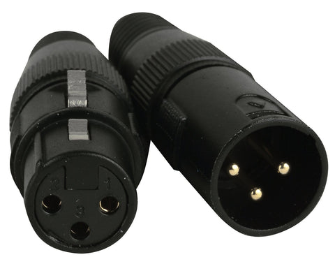 Accu-Cable 3-Pin Male-Female DMX Connector Pack