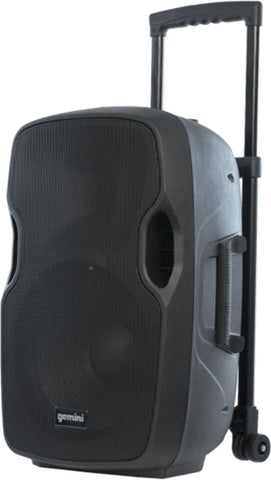 Gemini AS-12TOGO Bluetooth 12-inch Battery Powered Portable PA Loudspeaker