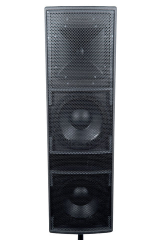 BASSBOSS AT212 1500-Watt Dual 12-Inch Powered Speaker - Sonido Live