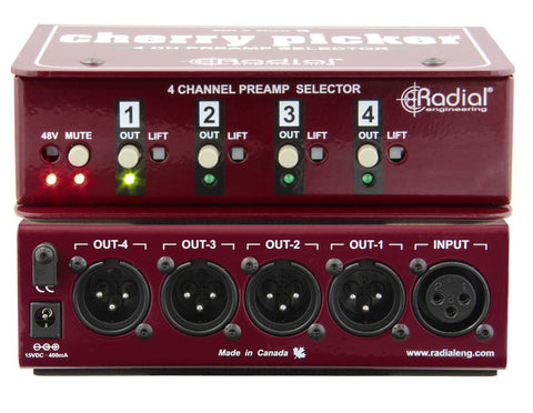 Radial Cherry Picker 4-channel Preamp Selector