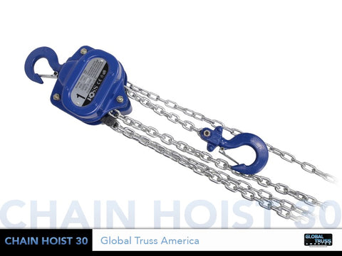 Global Truss CHAIN HOIST 30  - 1 TON MANUAL CHAIN HOIST - Sonido Live