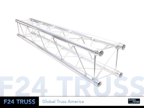 Global Truss  SQ-F24-200  - 6.56ft. (2.0m) LIGHT DUTY SQUARE SEGMENT - Sonido Live