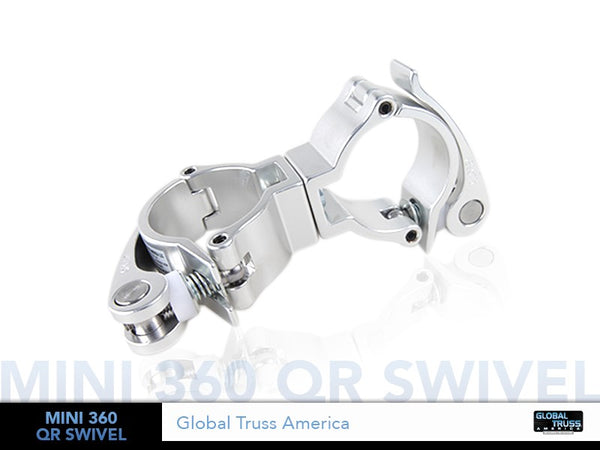 "Global Truss Mini 360 QR Swivel  - Light Duty Dual Swivel Quick Release Clamp for 2"" Pipe - Sonido Live"
