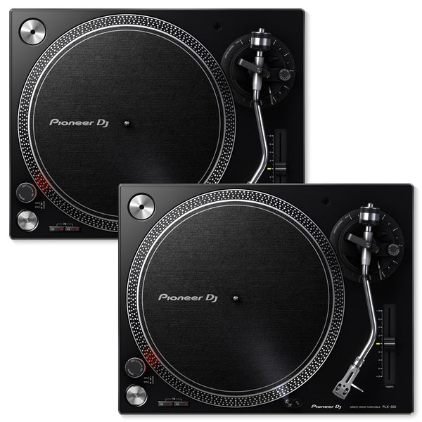 Pioneer Dj Plx 500 K Direct Drive Dj Turntable Package