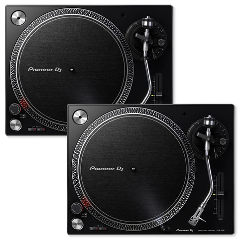 Pioneer DJ PLX-500-K Direct Drive DJ Turntable Package - Black - Pair - Sonido Live