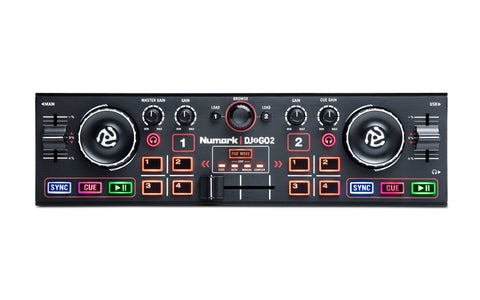 Numark DJ2GO2 2‑Channel Pocket DJ Controller with Audio Interface - Sonido Live