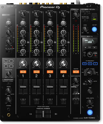 Pioneer DJ DJM-750MK2 4-Channel Mixer with Club DNA - Sonido Live
