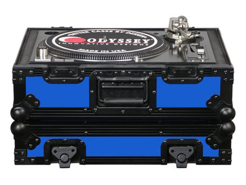 Odyssey FR1200BK Blue DJ Turntable Case - Sonido Live