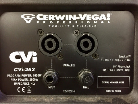 Cerwin-Vega! XOVP00034 Assembly Plate combo for the CVi-252 - Sonido Live