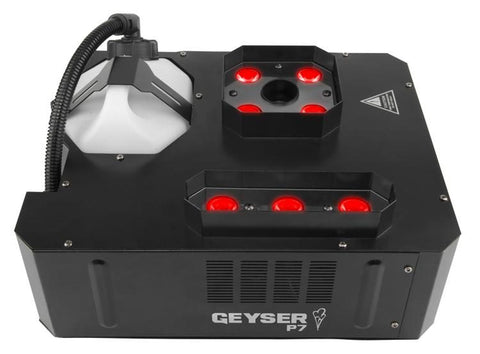 Chauvet DJ Geyser P7 7-LED RGBA+UV Vertical Fog Machine