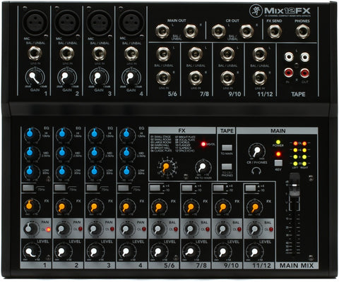 Mackie Mix12 12-Channel Compact Mixer with Effects - Sonido Live