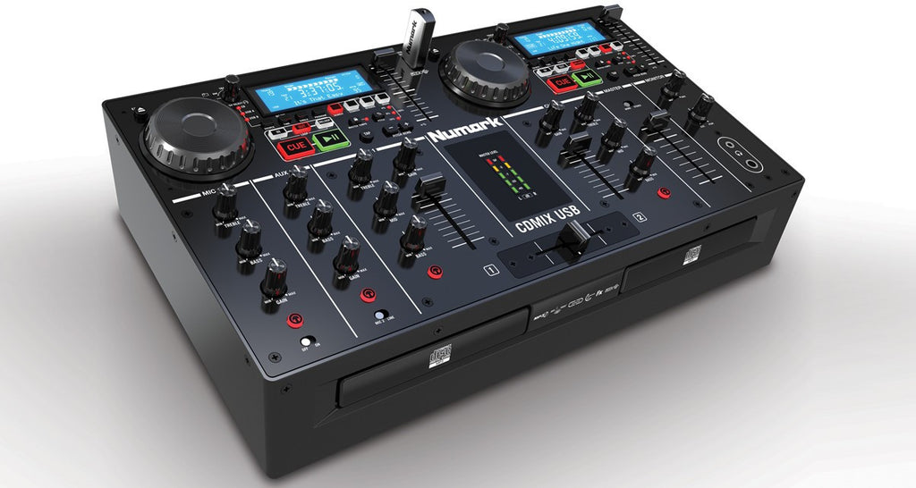 Numark CDMixUSB 2-deck All-in-one CD/USB DJ System - Sonido Live
