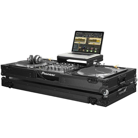 Odyssey FZGSLBM12WRBL Black Label Glide Coffin for 12-Inch Mixer & Turntables