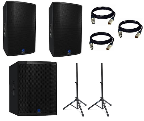 "Turbosound Siena Package w/ (2) Siena TSP152‑AN 15"" Powered Speakers & (1) Siena TSP118B-AN 3000-Watt 18"" Powered Subwoofer - Sonido Live"