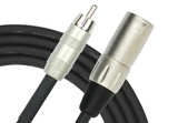 Kirlin - 25 Feet - XLR Male - RCA Plug Cable - Sonido Live