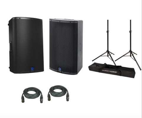 "Turbosound IX15 1000W 15"" DJ Sound Package with Ultimate Support stands - Sonido Live"
