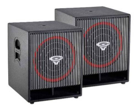 "Cerwin-Vega! (2) CVA-118 Compact Powered 18"" Subwoofer Package - Sonido Live"