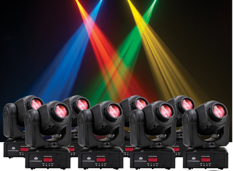 American DJ (8) Inno Pocket Spot Moving Head Package