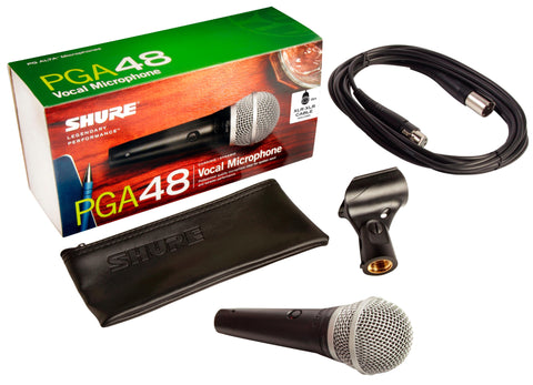 Shure PGA48 Cardioid Dynamic Vocal Microphone - Sonido Live