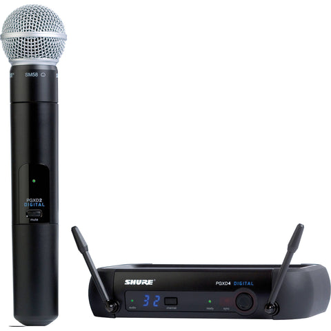 Shure PGXD24/SM58 Digital Handheld Wireless Microphone with SM58 - Sonido Live