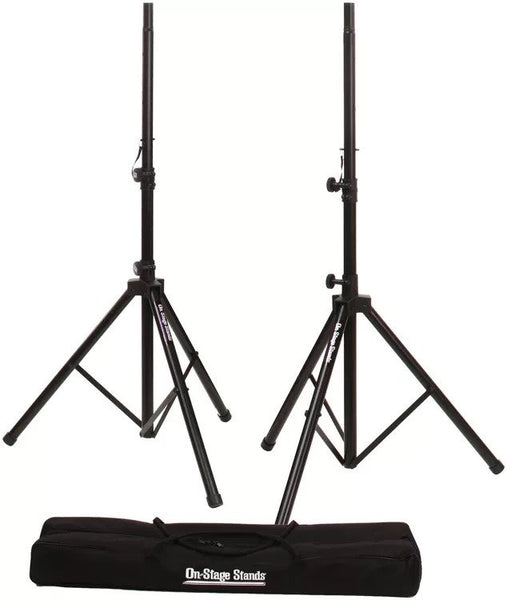 On-Stage Stands All-Aluminum Speaker Stand Pack w/Bag