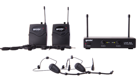 Gemini UHF-02HL 2-Channel Wireless Headset