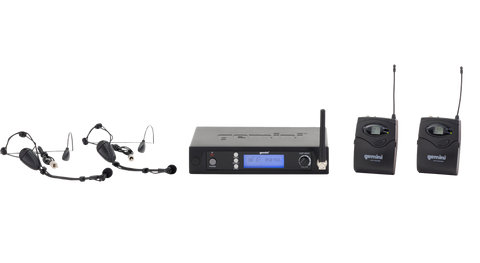 Gemini UHF-6100HL UHF Wireless Headset & Lavalier Microphone System