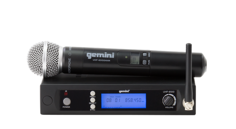 Gemini UHF-6100M 16 Channel Wireless UHF System - Sonido Live