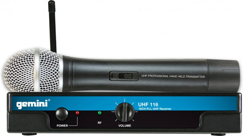 Gemini UHF-116M 16-Channel Wireless UHF System - Sonido Live