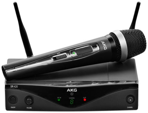 AKG WMS420 Wireless Handheld Microphone Vocal System - Band A - Sonido Live