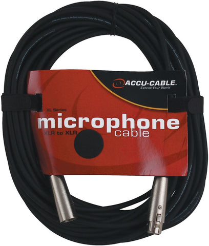 Accu-Cable XL25 25Ft Xlr (M) To Xlr (F) Mic Cable