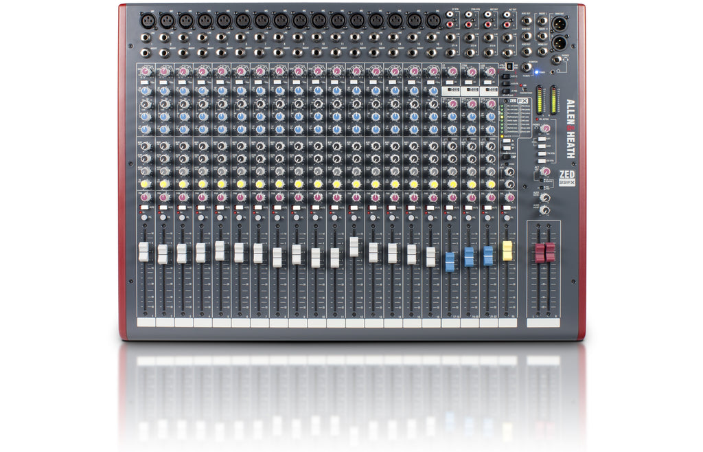 Allen & Heath ZED-22FX Mixer with USB and Effects - Sonido Live