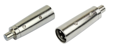 Kirlin 3107 X2P XLR Male to RCA Jack, 2pcs/pack - Sonido Live