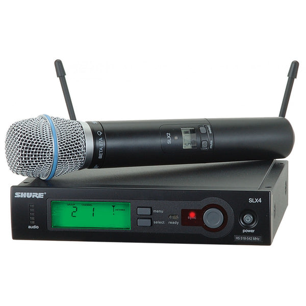 Shure SLX24/BETA87A UHF Frequency Agile Wireless Microphone System - Sonido Live