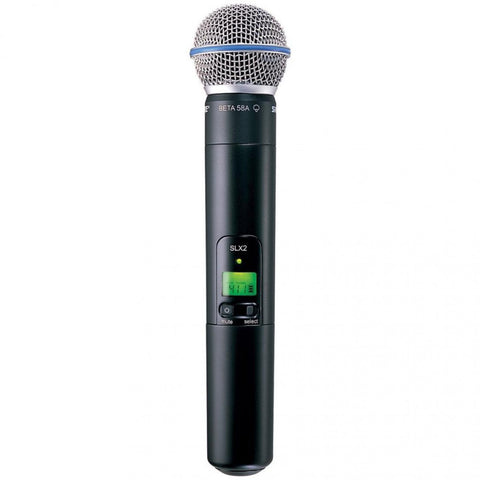 Shure SLX2/BETA87A Handheld Transmitter with BETA87A Microphone - Sonido Live