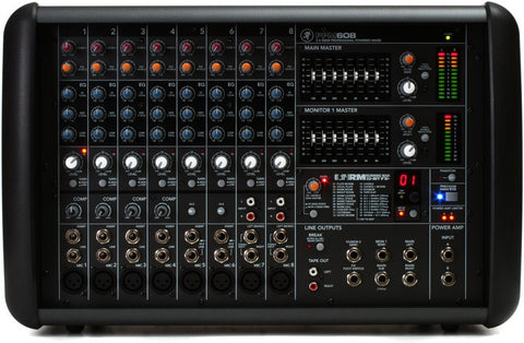 Mackie PPM608 1000W 8-channel Powered Mixer w/ Effects - Sonido Live