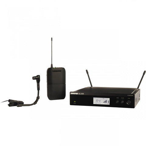 Shure BLX14R/B98 Single Channel Instrument Wireless System with Half Rack - Sonido Live