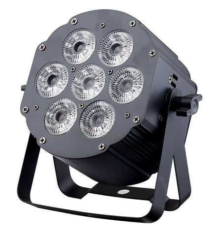 JMAZ LP76S 7 LEDs 6in1 RGBWA+UV Aluminum Par Can Light - Sonido Live