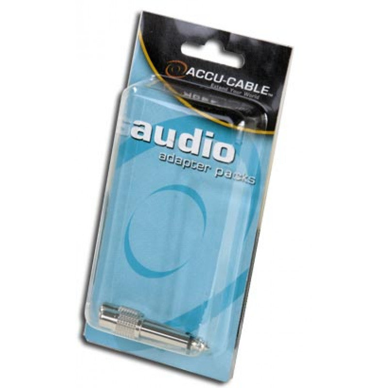 "Accu Cable ACQMRCAF Male 1/4"" to Female RCA Adapter"