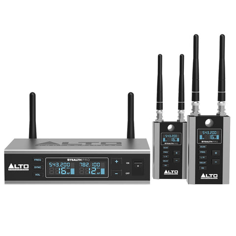 Alto Professional Stealth Wireless Pro 2-Channel Wireless Audio System for Active Loudspeakers