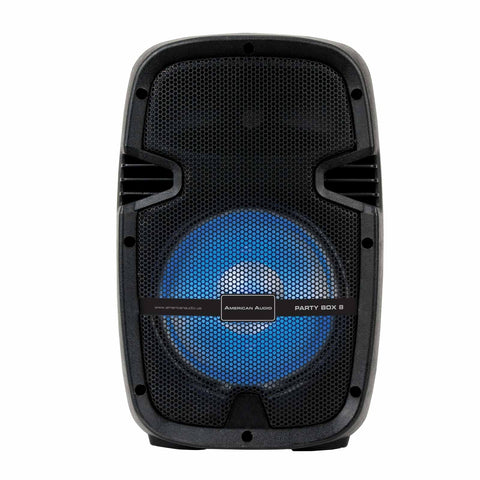 American Audio PARTYBOX8 Portable, Amplified 8-inch Bluetooth Speaker with built-in LED lights