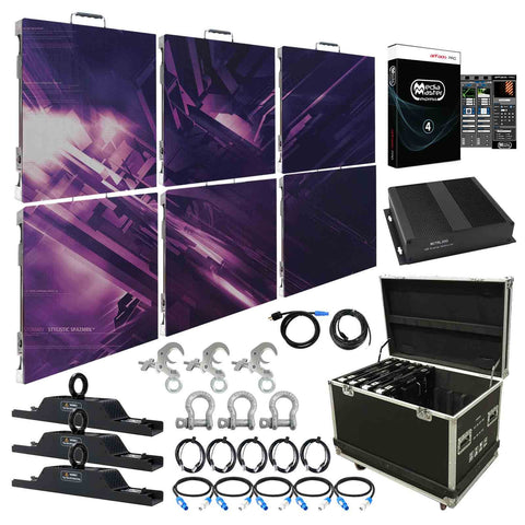 American DJ AV3 High Resolution 3.91mm LED Video Wall 3x2 Complete System Package