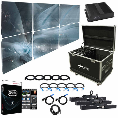 American DJ AV6X 6mm LED Video Wall 3x2 Complete System Package