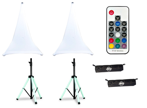 American DJ Speaker Stand Color LED DJ Package