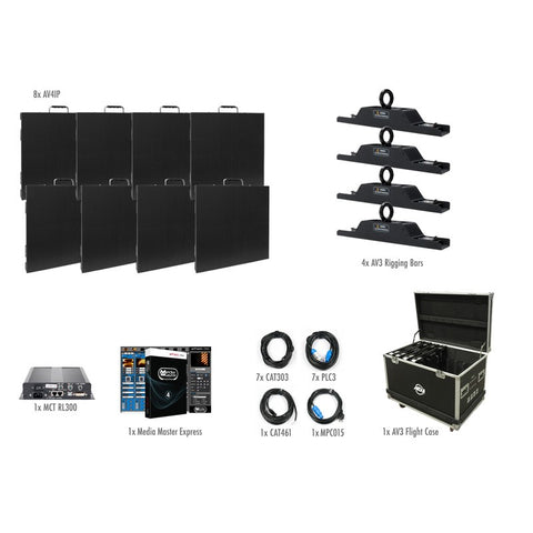 American DJ AV4 IP Video Panel Complete Package System